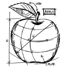 Tim Holtz Rubber Stamp APPLE SKETCH Stampers Anonymous M42623