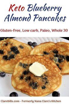 Blueberry Almond Pancakes have few ingredients and whip up in minutes. Keto Blueberry Almond Pancakes have few ingredients and whip up in minutes. -Keto Blueberry Almond Pancakes have few ingredients and whip up in minutes. Almond Pancakes, Keto Pancakes, Waffles, Blueberry Pancakes, Blueberry Recipes With Almond Flour, Blueberry Recipes Low Carb, German Pancakes, Vegan Keto, Vegan Hummus
