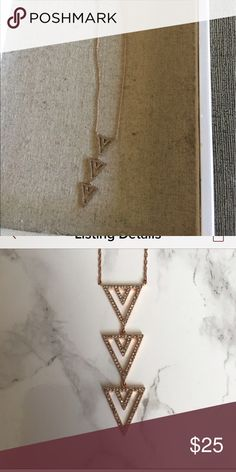Stella & Dot Spear Pave Necklace Rose Gold Beautiful Stella & Dot Spear Pave Necklace Rose Gold Stella & Dot Jewelry Necklaces