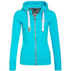 Superdry Orange Label Zip Hoodie ($78) ❤ liked on Polyvore featuring tops, hoodies, aquamarine, women, superdry hoodie, orange hooded sweatshirt, zipper hoodie, blue hoodies et zip hoodies