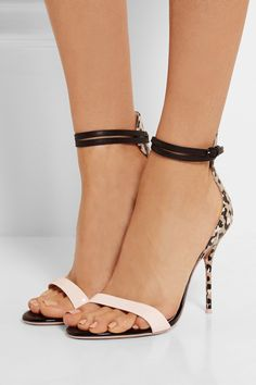 Sophia Webster|Nicole patent-trimmed printed leather sandals|NET-A-PORTER.COM