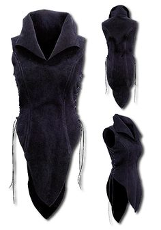 Color:  BLACK This noble ladyarmour Elf of tear-resistant but soft suede is beautifully designed by the upper legs, a full robe or light armour for women. A stylish choice for Shield Maiden, Forest Runners and other characters,...