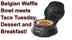 Presto Belgian Waffle Bowl Maker meets Taco Tuesday, Breakfast and Dessert Waffle Bowl Maker, Waffle Maker Recipes, Foods With Iron, Iron Foods, Breakfast Recipes, Dessert Recipes, Desserts, Low Carb Waffles, Taco Bowls