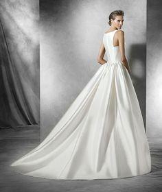 Pronovias 2016 | Vestido de noiva - Modelo Phynley em mikado, com cintura baixa