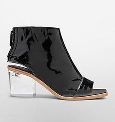 Shop Acrylic Heels Inspired By Dior Fall 2015 - Cavin Klein Clear Vinyl Boot; $1,295 at Calvin Klein