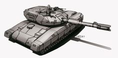 Commission - Main Battle Tank by Shimmering-Sword.deviantart.com on @deviantART