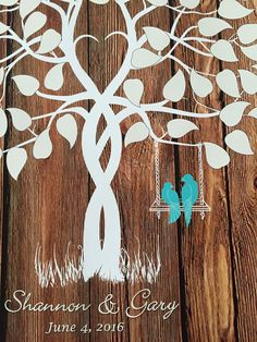 Wedding guest book guestbook tree guest book by fancyprints