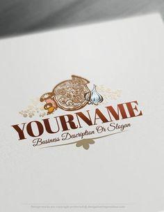 Design Free Logo: Vintage Pizza Logo Template