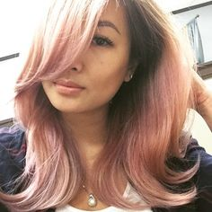 And the ombre look also goes well from blonde to rose gold. | 12 Reasons Rose Gold Is The Most Magical Shade To Dye Your Hair