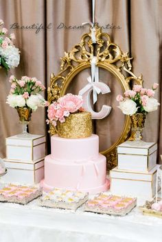Elegant Gold And Pink Birthday Party Ideas