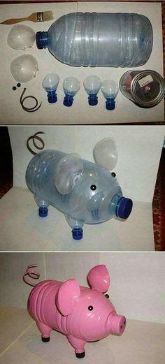 30 Amazing DIY Decorating Ideas With Recycled Plastic Bottles - doityourzelf Reuse Plastic Bottles, Plastic Bottle Crafts, Recycled Bottles, Projects For Kids, Diy For Kids, Plastik Recycling, Crafts To Do, Crafts For Kids, Recycled Crafts