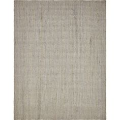 Unique Solid Braided Jute Transitional Area Rug (9' x 12') (Grey), Size 9' x 12'