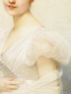 Portrait of Edith Warren Millet, (1885) Detail. by Jules Joseph Lefebvre (1836 - 1911)
