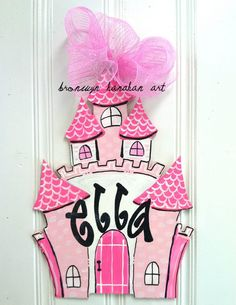 Perfect for my little princess.  sc 1 st  Pinterest & Antique princess crown baby door hanger hospital door hanger ... pezcame.com