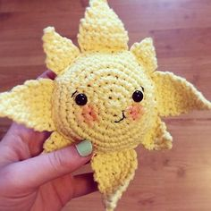 FREE crochet pattern: Summer Sun Softie crochet pattern for when the sun is out - Available on LoveCrochet