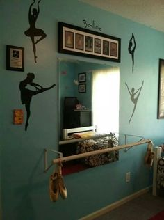 Ballet barre in my daughter's bedroom.