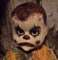 OOAK Horror Doll Evil Killer Zombie Clown Baby