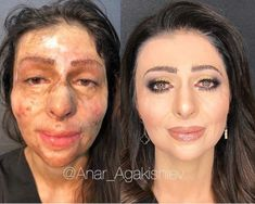 The Most Amazing Beauty Transformations by Anar Agakishiev Anar Agakishiev is a talented makeup artist and hair stylist from Azerbaijan. He is a magician when it comes beauty Eye Makeup Steps, Makeup Tips, Beauty Makeup, Hair Makeup, No Makeup, Makeup Products, Beauty Makeover, Makeup Makeover, Make Up Gold