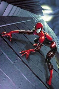 Scarlet Spider, Spider Gwen, Amazing Spiderman, New Suit Design, Marvel Dc, Marvel Comics, Siper Man, Dr Octopus, Ultimate Spider Man