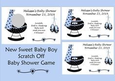 NEW  Sweet Baby Boy Personalized Scratch Off Baby by joannakind, $3.99