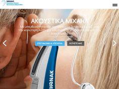 Akoustikamichail Portfolio Web Design, Hearing Aids, Design Development, Website, Hair, Beauty, Strengthen Hair