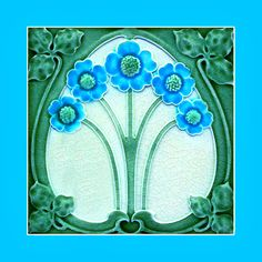 """103 Art Nouveau tile by Meakin (1906). Courtesy of Robert Smith from his book """"Art Nouveau Tiles with Style"""". Image enhancement by streets-of-barcelona.com"""