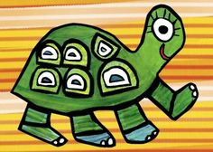 A happier turtle there never shall be! Teach your tot to do the Turtle Trot with the help of this bright and smiling artwork for kids rooms. Orange and green make quite an attractive color combo in this vibrant canvas wall art for kids.