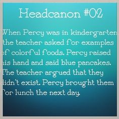 Since I have a kindergarten brother, this is a great time to pack HIM some blue food in honor of Percy :) gosh I'm a genius.<<< so cute!---Do it!