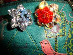 Swarovski rings anillo red and blue  handmade  By @chiiica_ via: http://chicadecrystal.blogspot.com/