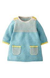 Mini Boden 'Stripey' Knit Dress (Baby Girls)