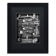 """Trademark Art """"Traffic Signs Paris"""" by Philippe Hugonnard Framed Photographic Print Size:"""