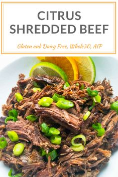 Easy crock pot citrus shredded beef with a Caribbean inspiration is perfect on its own or on your favorite taco or lettuce wraps. Dairy/ Gluten/ Net/ Egg Free, Whole30, Wahls, AIP, Paleo, quick weeknight dinner recipe. peelwithzeal.com