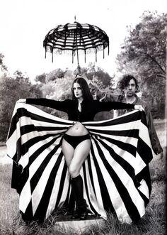 Lisa Marie, Tim Burton, and some stripes