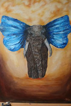 Modelling paste on canvas Modeling Paste, Sketch Ideas, Acrylic Paintings, Moose Art, Elephant, Butterfly, Canvas, Animals, Tela