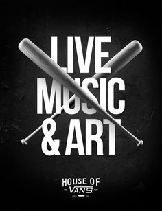 HOUSE OF VANS (Poster Series) by Nicolas Gloazzo, via Behance