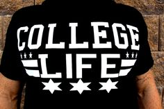 """Black Out"" College Life Tee"