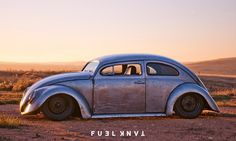 Extreme Dream: Roof Chopped, Bare Metal 1965 Volkswagen Beetle — Fuel Tank