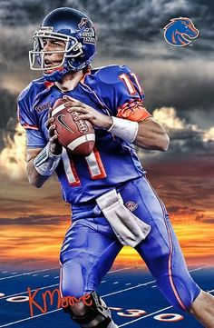 be0877c19 Boise State Broncos Sunset Kellen Moore 24x18 Football Poster