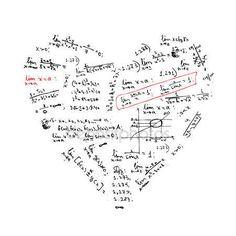 Baixar - Forma de coração com fórmulas de matemática para seu projeto — Ilustração de Stock #5657760