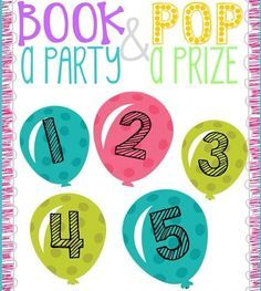 Book a Scentsy party or sign up to pop a balloon for surprise savings or a free gift!