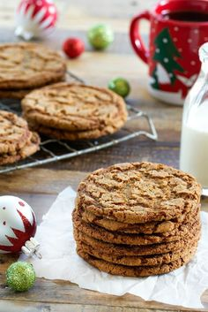 Crispy Ginger Cookies are a dream holiday cookie. Every bite of crunch crispy delectable ginger flavor will having you wanting more.
