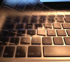 The ClearGuard Keyboard Protector from Moshi protects your keyboard from dust, scratches, spills, and other damage.