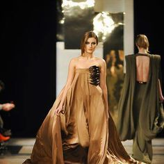 Gold Toned Evening Gown...