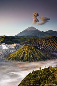 Mount Bromo (Gunung Bromo, in Bahasa Indonesia), is an active volcano and part of the Tengger massif, in East Java, Indonesia. At 2,329 metres (7,641 ft) it is not the highest peak of the massif, but is the most well known. The volcano belongs to the Bromo Tengger Semeru National Park. The name of Bromo derived from Javanese pronunciation of Brahma, the Hindu creator god. Every hour or so a giant ash eruption occurs, an unbelievable sight that adds even more magic to this otherworldly…
