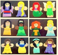 PICK ONE - Disney Princess Finger Puppet Set of 6 - Thumb War - Disney Inspired - Ariel - Cinderella - Snow White - Rapunzel - Merida