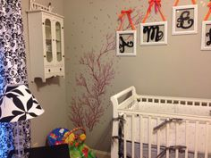 Dogwood blossom wall decal in the pink & gray nursery
