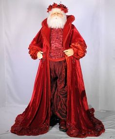 "Katherine's Collection 65"" Life Size Papa Mantellina Santa Display Free Ship Christmas Elf Doll, Father Christmas, Christmas Art, Vintage Santa Claus, Vintage Santas, Victorian Christmas, Vintage Christmas, Santa Claus Figure, Santa Clause"