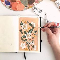 Floral gouache painting in progress Art And Illustration, Gouache Illustrations, Sketchbook Inspiration, Art Sketchbook, Gouache Painting, Painting & Drawing, Minimalist Bullet Journal, Art Sketches, Art Drawings