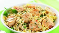 Pasta | Fresh Ideas with Leigh Ann Web  Sub chicken tenderloins for scallops