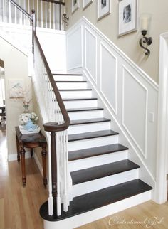 4 Stunning Tips: Shiplap Wainscoting Stairs wainscoting staircase entry ways.Wainscoting Staircase Entry Ways. House Design, Painted Staircases, House, Home, Staircase Design, Home Remodeling, New Homes, Diy Staircase, Staircase Makeover